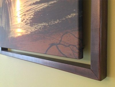 Stained birch wood frame