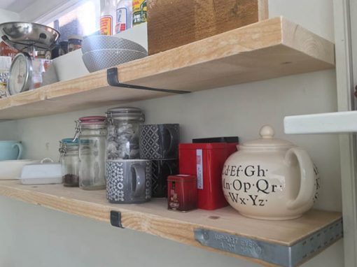Scaffold board shelving