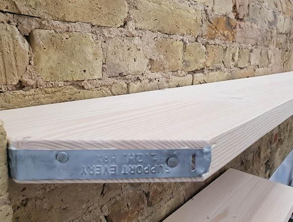 Scaffold board shelving 2