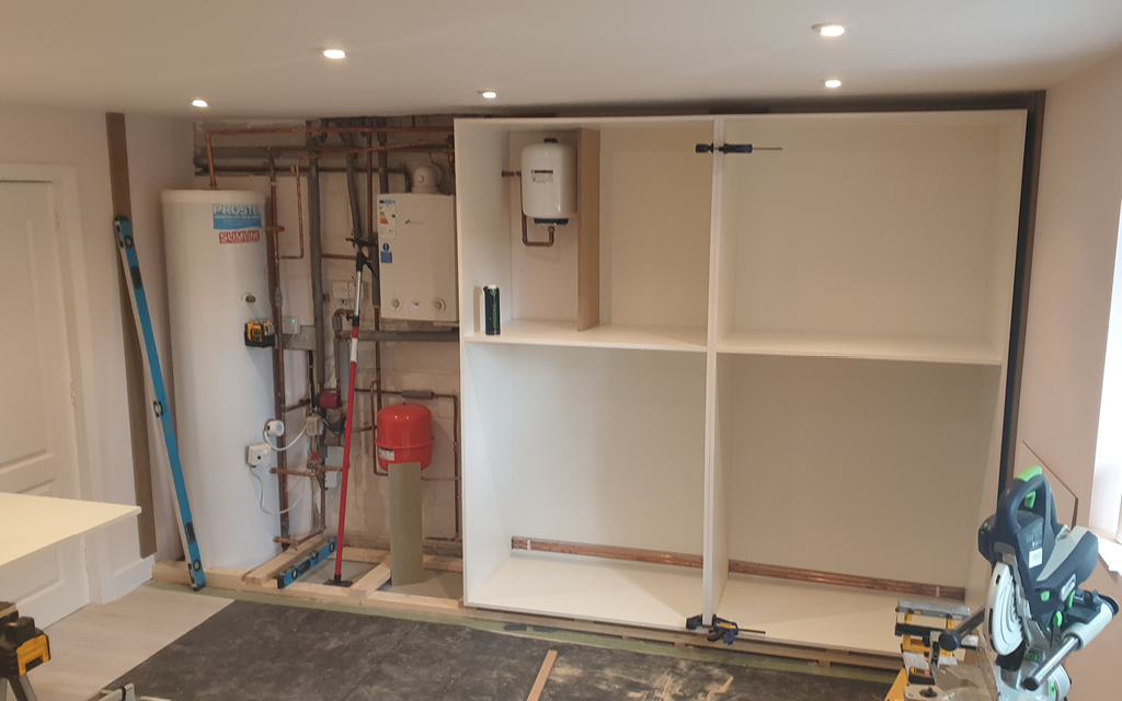 Custom Storage cupboards with white MFC