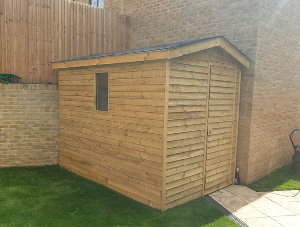 Custom sized garden shed